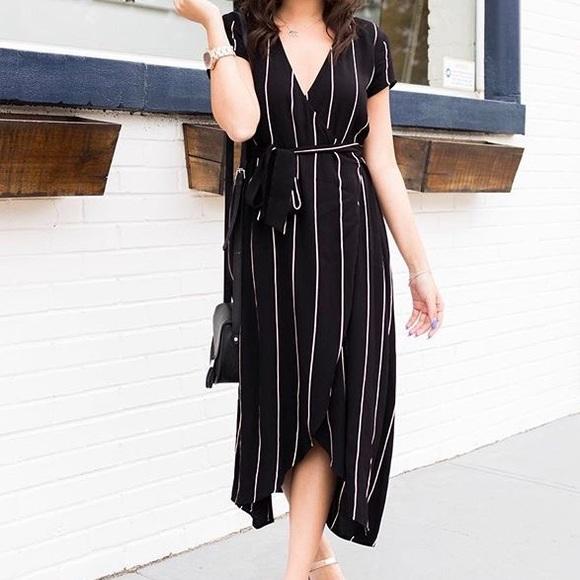 LOFT Dresses   Skirts - Loft striped wrap dress a7833a95f